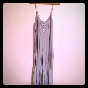Anthropologie Cloth and stone striped jumpsuit